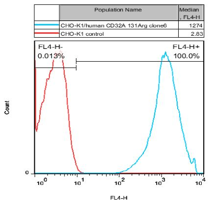 CHO-K1/human CD32A 131Arg Stable Cell Line